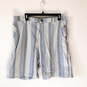 Lululemon Men's Blue Striped Shorts Sz 36